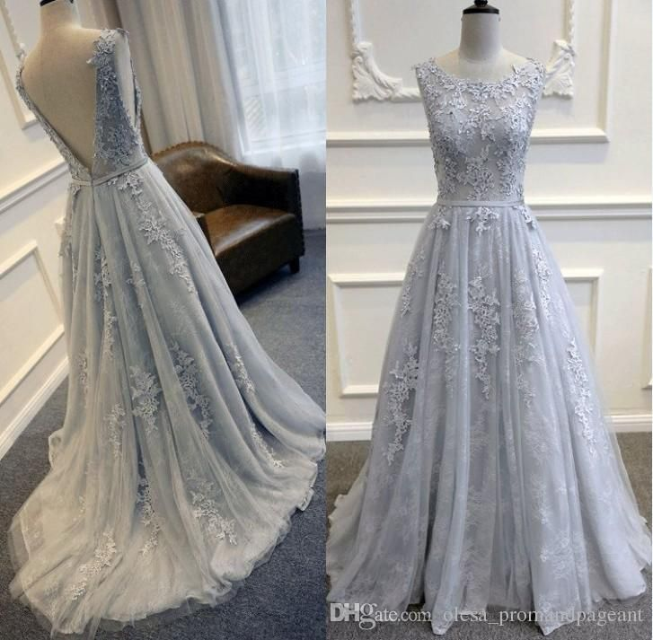 Elie Saab 2016 Light Blue Lace Celebrity Prom Dresses Sexy Open Back Lace Appliques A Line Evening Gowns Sweep Train Formal Occasion Dress Cheap Designer Prom Dresses Discount Prom Dress From Olesa_promandpageant, $140.41| Dhgate.Com