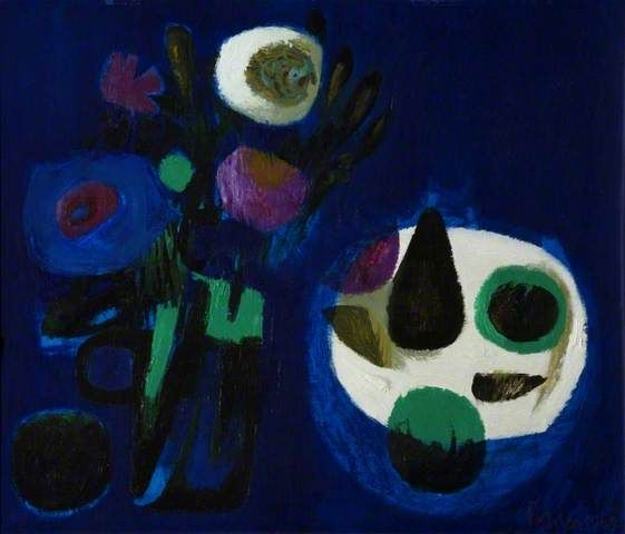 Mary Fedden, Blue still life