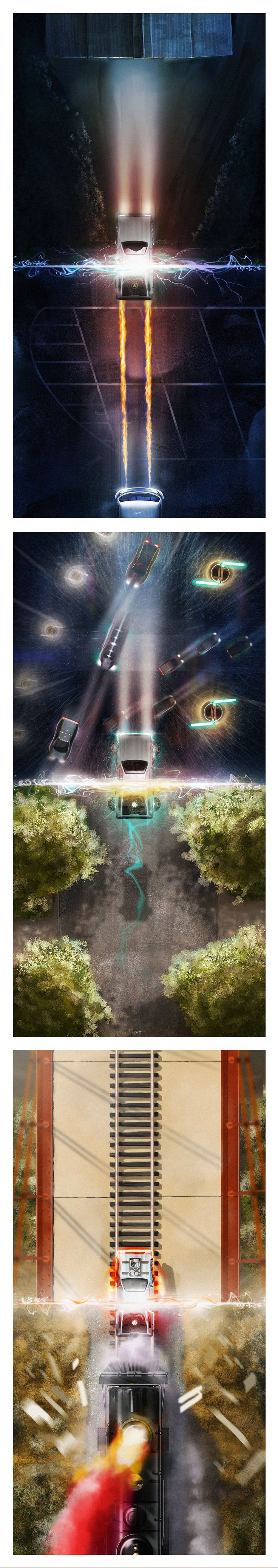 Back To The Future Trilogy Poster by Andy Fairhurst