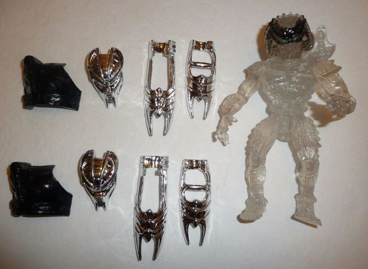 Vtg 1993 Invisible Predator Action Figure - Kenner - With Extra Parts  #Kenner