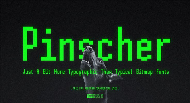 SH Pinscher Free Bitmap Font on Behance