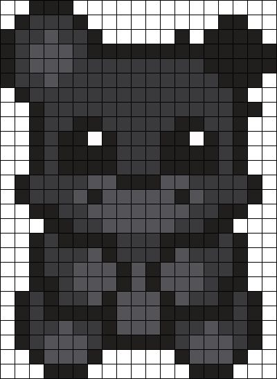 Shadow Freddy Perler Bead Pattern / Bead Sprite