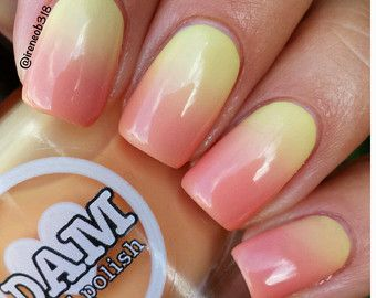 Sweet Sunset Thermal Nail Polish Orange Nail by DamNailPolish