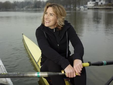 Katherine Grainger - Much as I adore her, NO ONE should look that good when they're rowing.