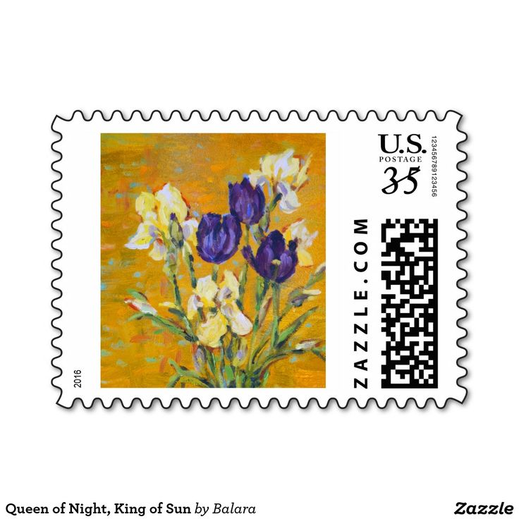 Queen of Night, King of Sun Postage Stamp