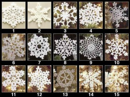 Stelle fiocchi neve albero di natale decorazioni natalizie cotone 100% uncinetto