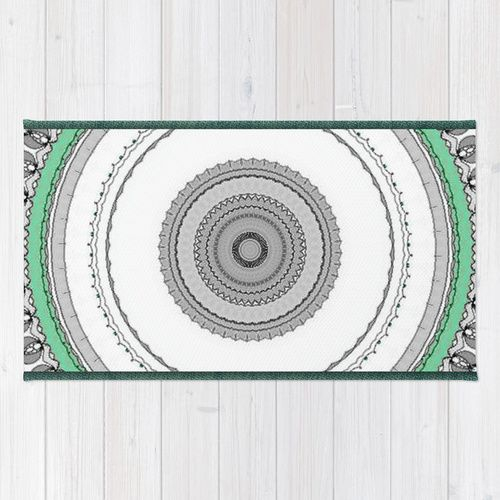 """Green West"" Area  Throw Rug (Alfombra) / 2' x 3' 
