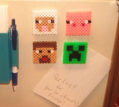 Minecraft Magnets  Set of 4 by GeekShop on Etsy