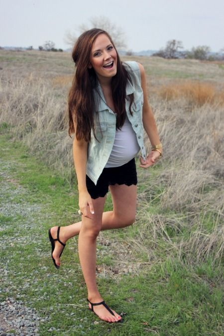 Cute spring/summer outfit. #maternity