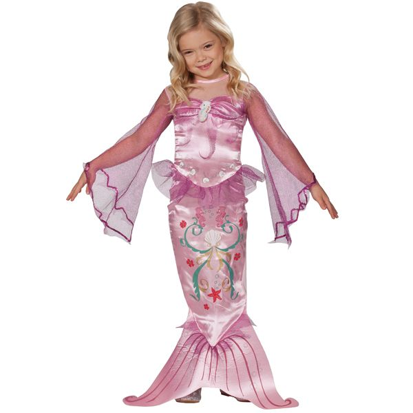Zeemeermin roze kostuum kind