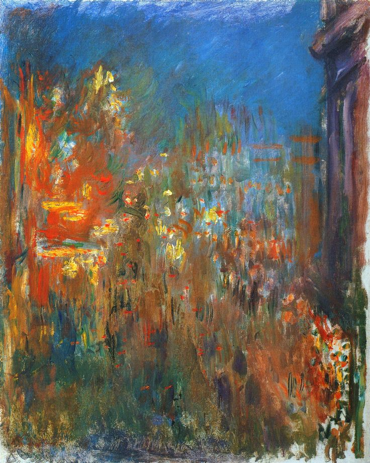 Leicester Square at Night by Claude Monet