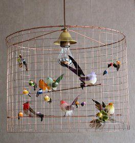 little bird chandelier, Mathieu Challieres