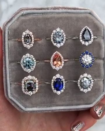 Vintage and antique-inspired halo engagement rings…