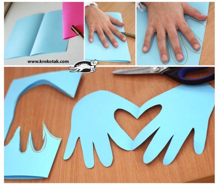 Un bricolage touchant à faire avec les enfants pour la Saint-Valentin! - Bricolages - Des bricolages géniaux à réaliser avec vos enfants - Trucs et Bricolages - Fallait y penser !