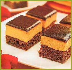 DULCE RECETAS: Recetas de Postres: Brownies con mousse de dulce de leche