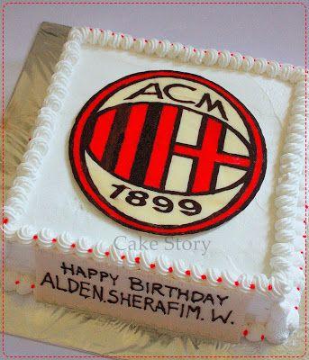 AC Milan Birthday Cake - Cake Story