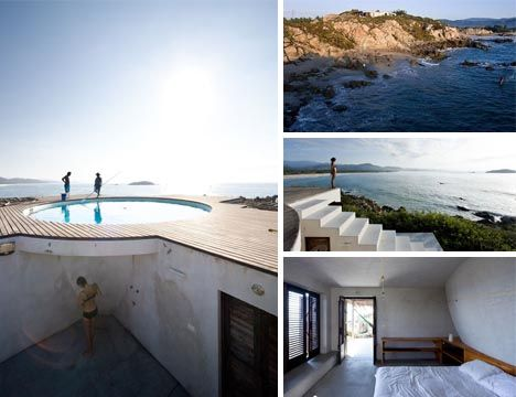 rooftop patio pool design on the rural coast of mexico the universe house by - Beachfront Home Designs