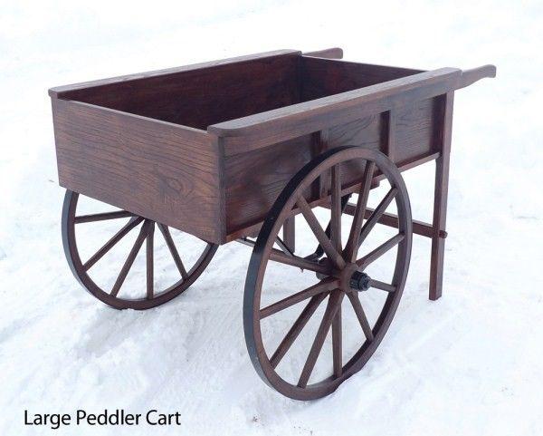 Old Time Reproduction Wooden Wheel Peddler-Vendor Cart