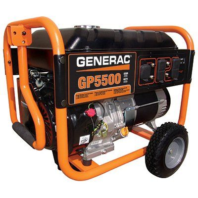 Generac GP Series Portable Electric Generator With Wheel Kit, 5500/6875-Watt: Model# 5939 | True Value