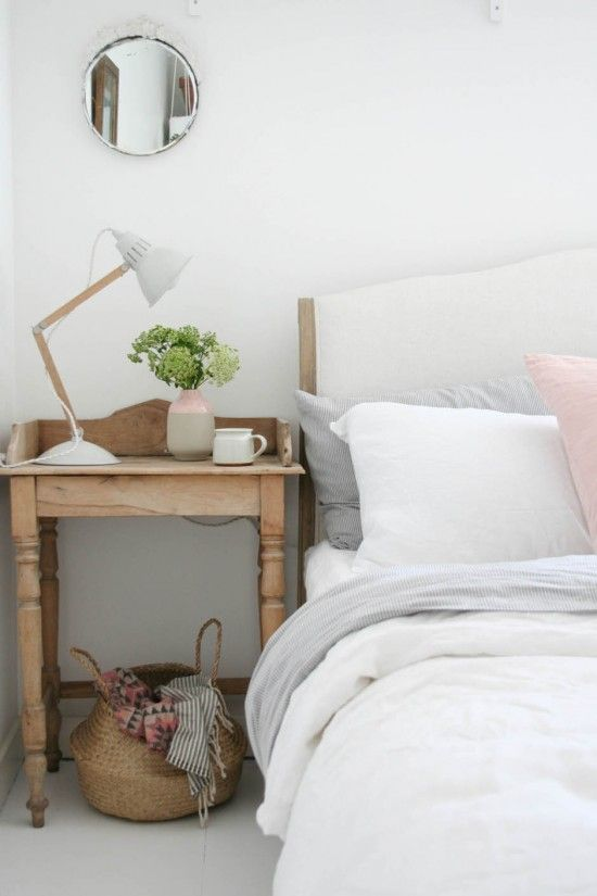 Styled bedside table with @loafhome Coco bed and Lazy Linen | Apartment Apothecary