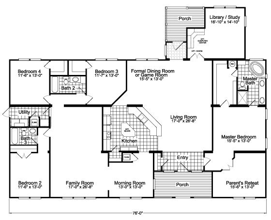 Find This Pin And More On A Simple Plan By Baltimoregal. The Gotham Flex Floor  Plan   One Of Palm Harbor Homes ...