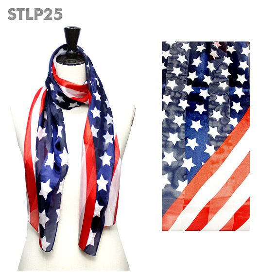 America Flag USA Flag Satin Scarf www.americapartygear.com