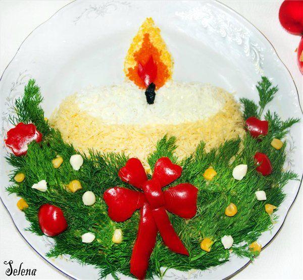 фото салатов новогодние