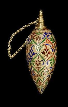 An enamelled gold Perfume Sprinkler Morocco, 18th Century