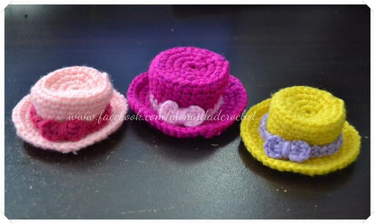 Our Family Blogs About....: Crochet Miniature Hat ...
