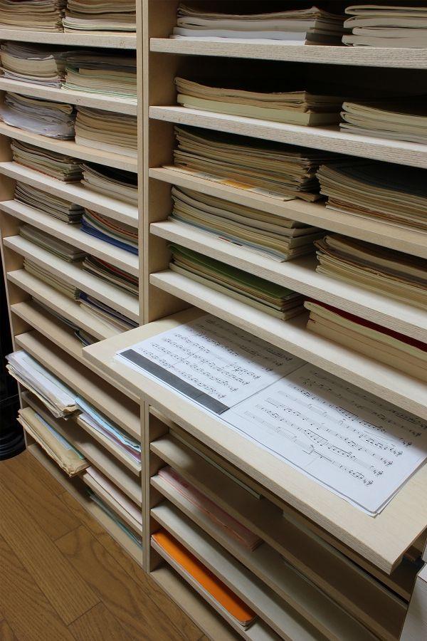 楽譜棚(楽譜収納楽譜整理譜面収納棚)15段PNO-A3-15a/マルゲリータ