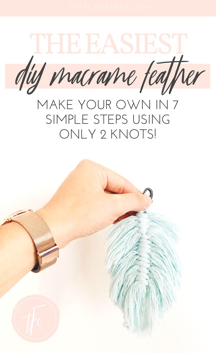 Macrame Feather DIY Tutorial #tutorial Macrame Fea…