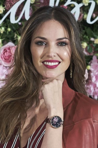 Spanish model Helen Lindes presents the new watches vintage collection by Olivia Burton at the Orfila hotel on October 25, 2017 in Madrid, Spain.