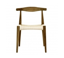 Horn Chair with White Polymer Weaving