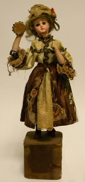 Victorian Automaton Dancer with Tambourine, attributed to G. Vichy, c. 1880