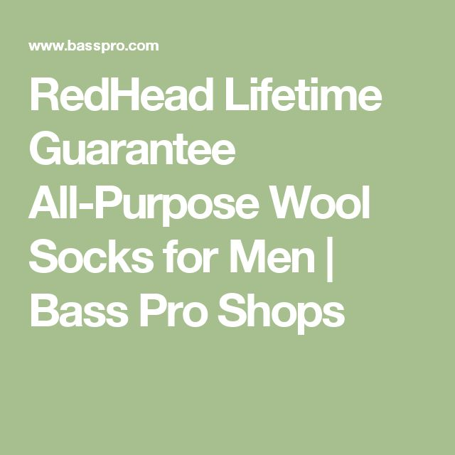 RedHead Lifetime Guarantee All-Purpose Wool Socks for Men | Bass Pro Shops
