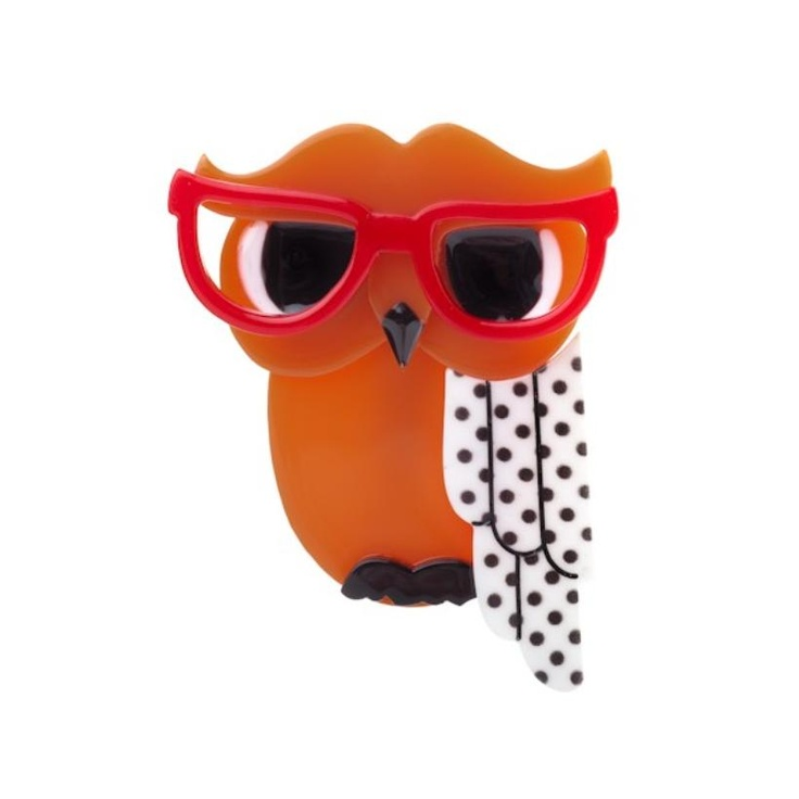 Wise Owl Brooch - Waldo the Wacky Wise Owl an Erstwilder Design