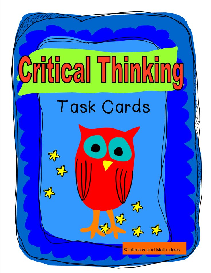 tasks to develop critical thinking Squeeze in words solve a problem - problem solving critical thinking activity solve a problem make your menu - fun, free and printable activities for kids.