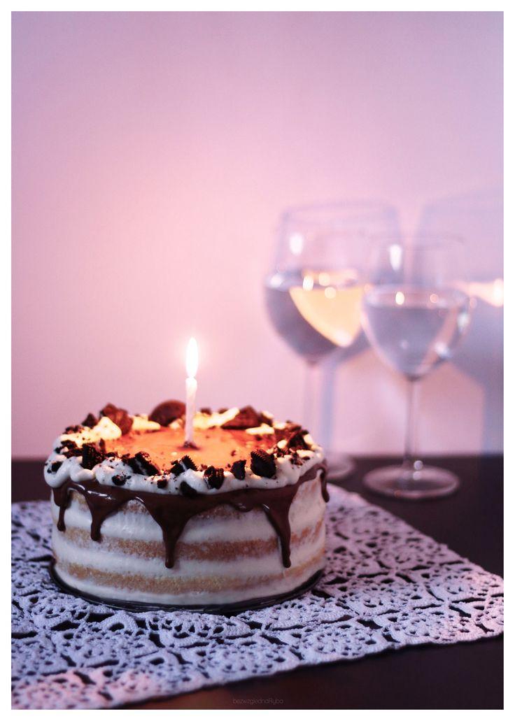 #cake #birthdaycake #oreo #nakedcake #chocolate #chocolatecake #whippedcream #birthday #bestcake #tort #urodziny