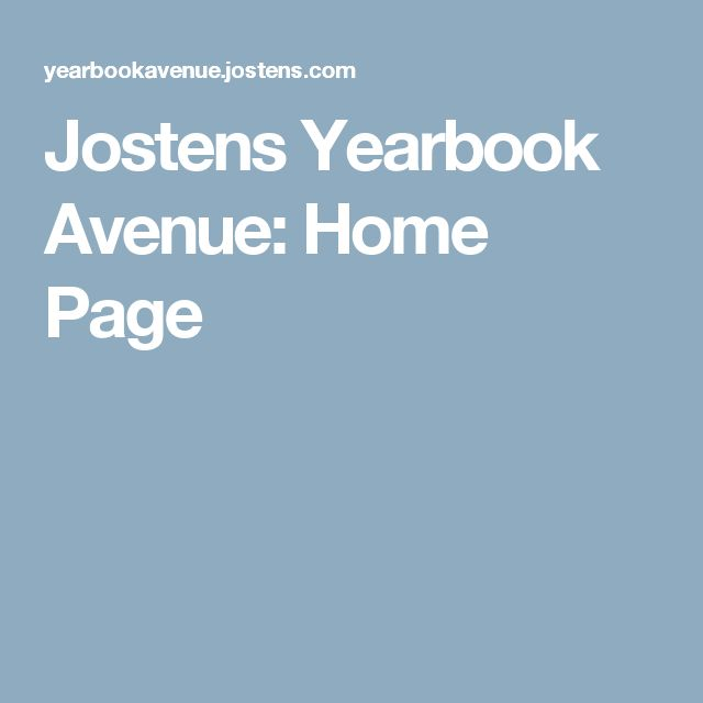 Jostens Yearbook Avenue: Home Page
