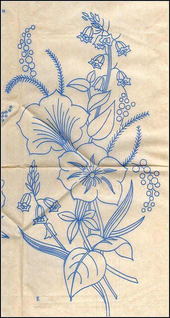 Vintage embroidery by sue-tarr, via Flickr