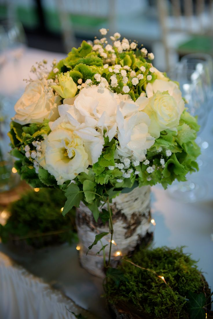 Flower arrangement centerpiece for bride and groom table