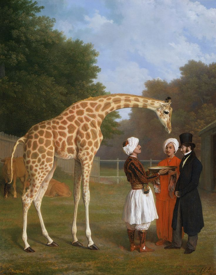 Jacques Laurent Agasse painting of The Nubian Giraffe