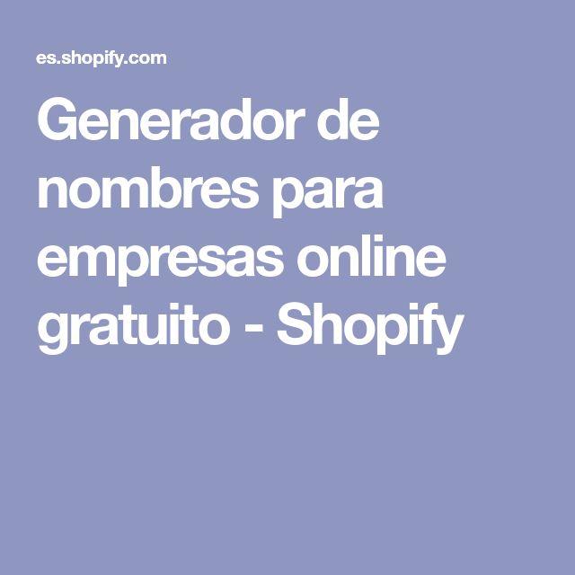 Generador de nombres para empresas online gratuito - Shopify