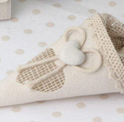Conetto per cofetti in tessuto vintage style.