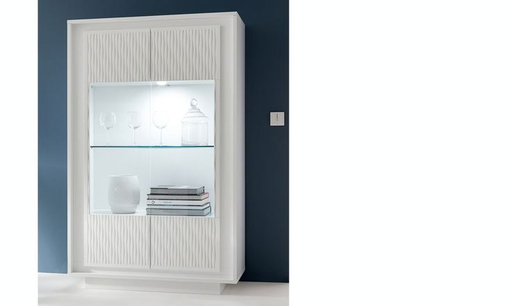 Vaisselier blanc laqué mat design AURORA