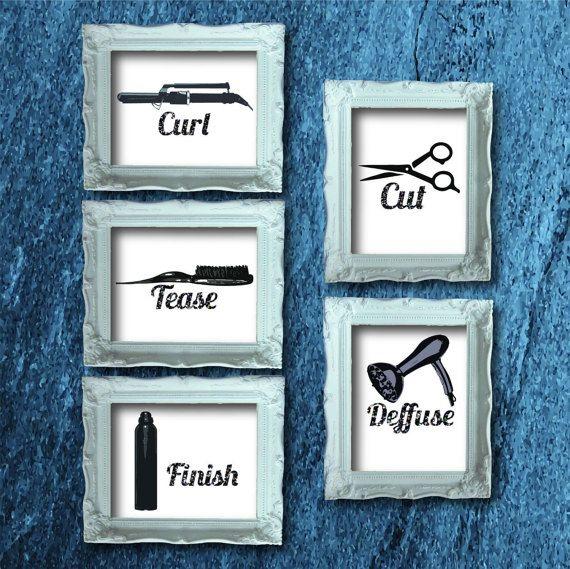Hair Salon Decor Instant Download Printable by FrontPorchPressbyKK