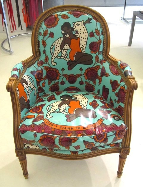 Funky African Fabric Great Looking Chair Cool Chairs Pinterest Upholstery Decor And