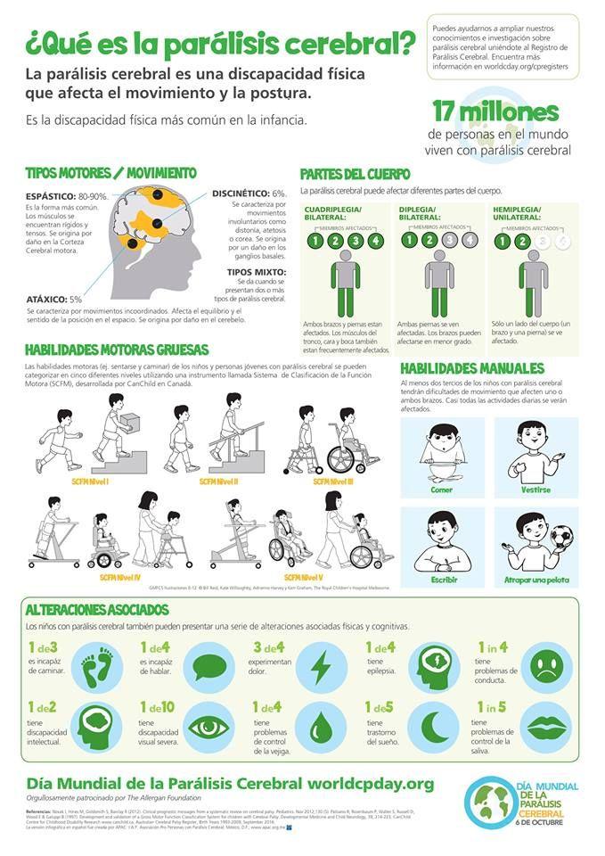 Qué es la Parálisis Cerebral? | ⚡ Infografías | Pinterest