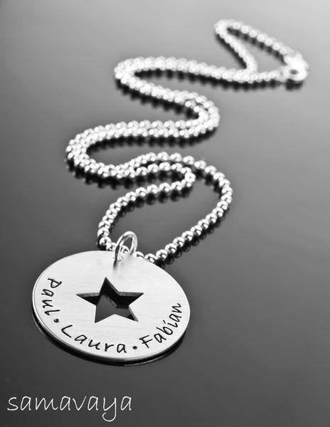 MY+STARS+Silber+Namenskette+Gravur+personalisiert+von+samavaya+auf+DaWanda.com