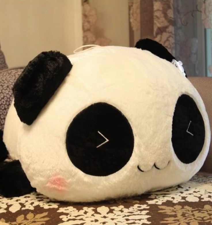 Smiling panda plush toy.. i actually have this.. Really soft.....